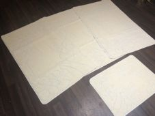 ROMANY GYPSY WASHABLES NICE NON SLIP SET OF 4 MATS LIGHT CREAMS CHEAPEST AROUND
